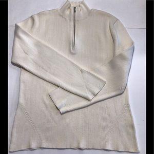 Jones New York Mock Neck Half Zip Sweater